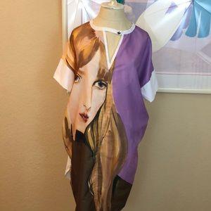 Zara Graphic Boxy T-Shirt Dress